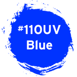 Noris #110UV Blue Endorsing Ink | Rubber stamp ink for marking UV prints on uncoated paper and human skin. It glows/shines under UV light (370nm)