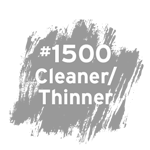 #1500 Cleaner/Thinner • Specially formulated to work with #1500