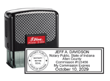 Professional Notary Public Self-inking Stamp will be customized with your name and state. Easy order!