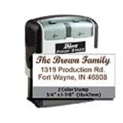 Indiana Stamp, located in Fort Wayne, Indiana, is the place to get Shiny 2-color self-inking stamps like the S-1823 and many more!