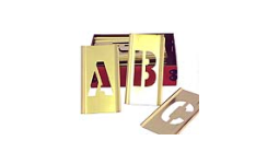 indiana stamp sells 4 inch brass stencil letter set at competitive prices we also sell