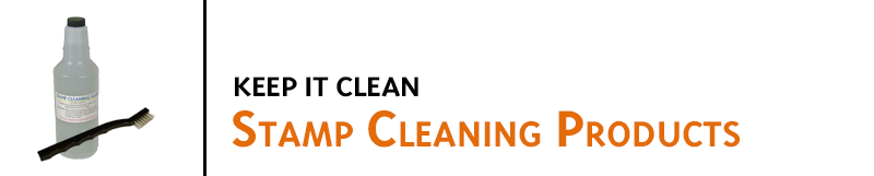Lumber Stamp cleaning fluid, stamp cleaning brushes, and latex gloves help you keep rubber stamps clean and prevent ink build-up. Buy cleaner, brushes, and kits online.