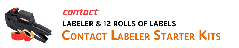 Indiana Stamp sells Contact brand labeling machines and accessories, including Contact labeler starter kits.