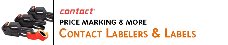 Contact Labeling products are compatible with Garvey price marking guns, including price marking labelers,labels,ink and slugs.Mark inventory,date codes,retail products,mark on food packaging,frozen product packaging,cloth and mark on any other hard-to-ma