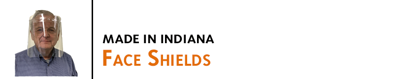 Face Shields create a clear physical barrier that covers your entire face. Great to use together with face masks, goggles, and other protective items. Made in Indiana. Buy online!