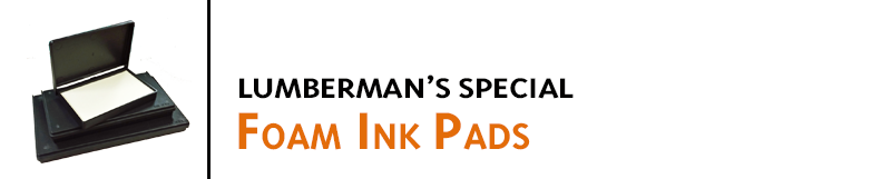 Popular for stamping lumber, these Foam Ink Pads transfer more ink than a standard felt pad. Great for use with C-1544 Lumber Marking Ink. Buy online!