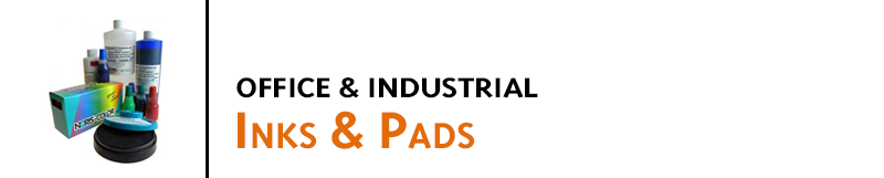 Rubber stamp ink and pads for office stamps, industrial marking, lumber marking, stencils and more. Ink pads for office and industrial inks and extra large applications.
