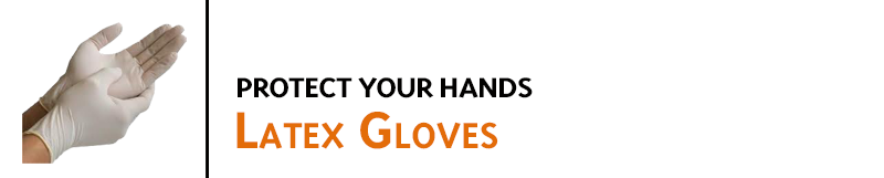 Keep your hands free of ink when cleaning rubber stamps, refilling stamp pads, or adding ink to ink rolls. Latex gloves are sold in packs of 10 gloves.