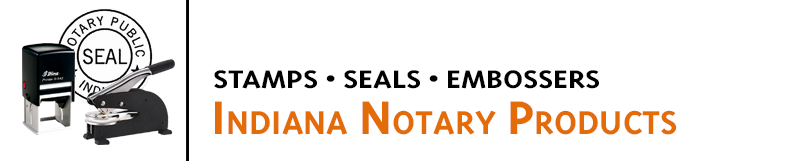 Indiana Notary Stamps available in several sizes and layouts. Indiana Notaries save time and add an official touch with Notary Seal stamps and embossers.