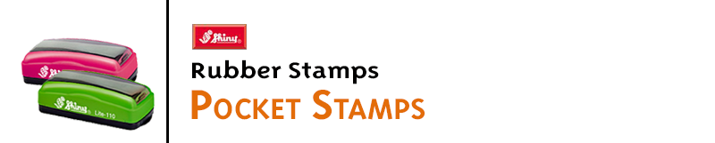 Pocket Stamps like the Shiny Handy Stamps and Slim Stamps are the perfect way to take your stamp with you. No mess, lots of sizes, and re-inkable!