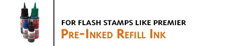 Refill Ink for Shiny Premier and Eminent Pre-inked Stamps