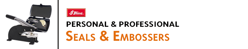Seals and embossers for professional documents and official seals. Excellent for notary, library engineer, architect, and personal seals. Pocket and desk styles.