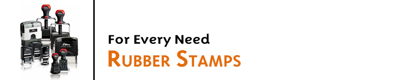 We make rubber stamps in huge variety of sizes & styles! Traditional stamps, self-inking pre-inked, heavy duty, rocker, inspection, metal and more!