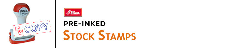 Pre-inked stock message stamps are quick, convenient and economical, and make stamping easy. Order online!