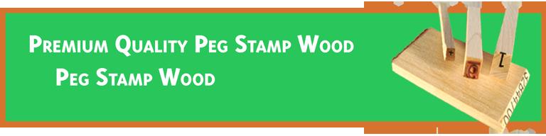 Peg Stamp Wood