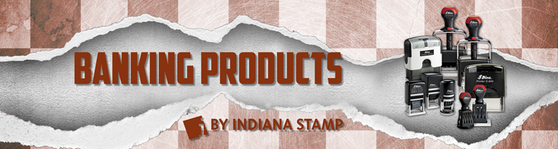 Indiana Stamp sells self-inking,pre-inked and traditional handles stamps to banks and bank customers.Call 877-424-5395 to see how we can increase your efficiency.