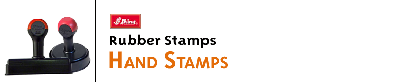 Indiana Stamp sells a wide variety of Shiny duo handle stamps. These hand stamps are environmentally friendly, ergonomically shaped, and come with a convenient pad cover.