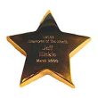 gold plated star paperweight, solid paperweight, tropar, airflyte, 107
