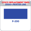 Indiana Stamp sells replacement pads for many brands, including Cosco Printer P-200s.