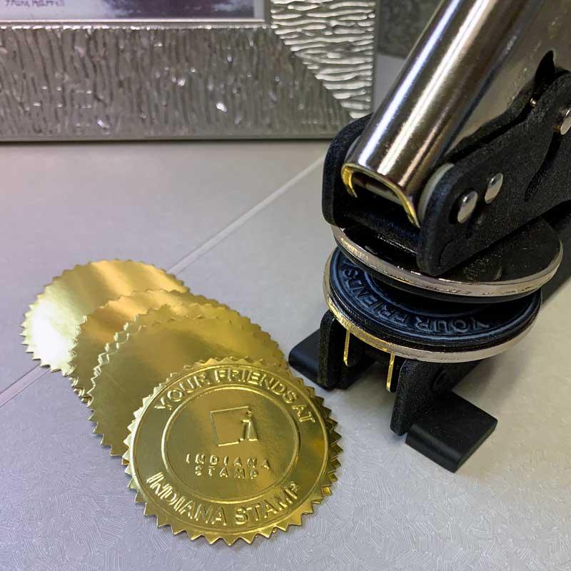 Gold Foil Embossing Seals