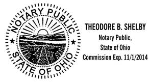 Ohio Notary Stamp Personalized With Seal