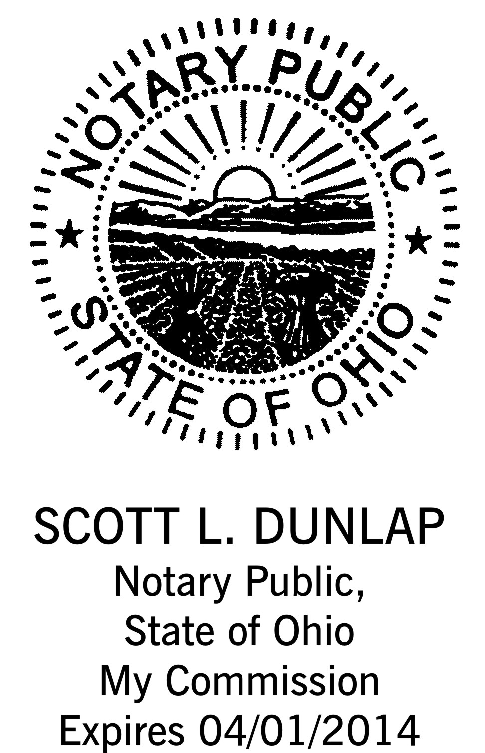 Ohio Notary Stamp Vertical Layout Includes Seal Notary Public Stamp Choose  Your Style Round Rubber Stamp