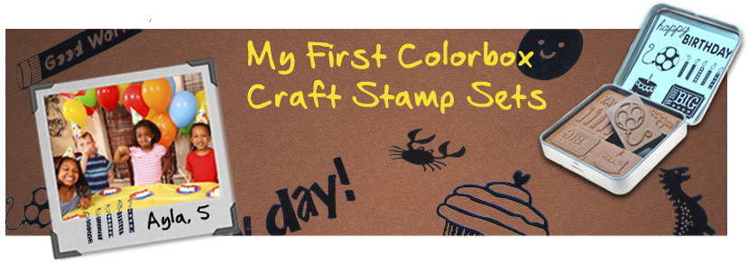 Indiana Stamp sells Colorbox My First Colorbox Mini Craft Stamps for young crafters.