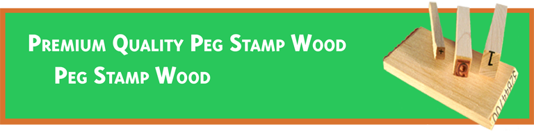 Peg Stamp Wood