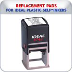 Replacement Pads for Ideal Plastic Self-Inking Stamps