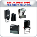 Replacement Pads for Shiny Printer Line