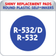 Indiana Stamp sells the complete line of Shiny brand products, including R-532 and R-532D replacement pads.