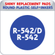 Indiana Stamp sells the complete line of Shiny brand products, including R-542 and R-542D replacement pads.