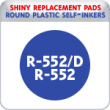Indiana Stamp sells the complete line of Shiny brand products, including R-552 and R-542D replacement pads.
