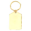 solid brass keychain, key chain, key ring, keyring, rectangle keyring, engravable brass