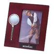 rosewood finished picture frame with golf ball and tee, high gloss rosewood frame, tropar, airflyte, engravable brass plate, personalized gifts