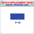 Indiana Stamp sells replacement pads for many brands, including Cosco Printer P-10s.