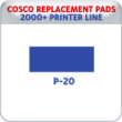 Indiana Stamp sells replacement pads for many brands, including Cosco Printer P-20s.