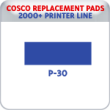 Indiana Stamp sells replacement pads for many brands, including Cosco Printer P-30s.