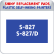 Indiana Stamp sells the complete line of Shiny brand products, including S-827 and S-827D replacement pads.