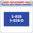 Indiana Stamp sells the complete line of Shiny brand products, including S-827 and S-828D replacement pads.