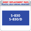 Indiana Stamp sells the complete line of Shiny brand products, including S-830 and S-830D replacement pads.