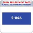 Indiana Stamp sells the complete line of Shiny brand stamping products, including replacement pads for Shiny S-846 plastic self-inking stamps.