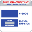 Indiana Stamp sells the complete line of Shiny brand products, including H-6006,H6106,HM-6106 replacement pads.