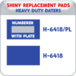 Indiana Stamp sells the complete line of Shiny brand products, including H-6418/PL, H-6418/DN replacement pads.
