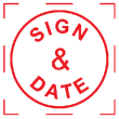 Pre-inked SIGN & DATE stamp makes it easy to make thousands of imprints without writer's cramp. Low-cost message and symbol stamps are perfect for home and office. Fast shipping!