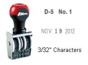 Non-Self-Inking, line dater, date stamp, plain date stamp, non self inking line dater, shiny