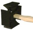 36015 4-WAY RUBBER HEAD W/HOOK - 36015 4-Way Rubber Head with Hook Velcro
