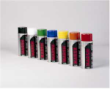 Indiana Stamp sells Marsh Spray Stencil Inks in Standard Highly visible colors:black,blue,green,orange,red,white and yellow.