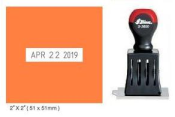 Indiana Stamp sells 24460 Shiny S-3600-7 non self-inking die plate daters at competitive prices.