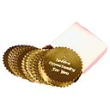 Package of 40 gold foil labels for use with seal embossers.